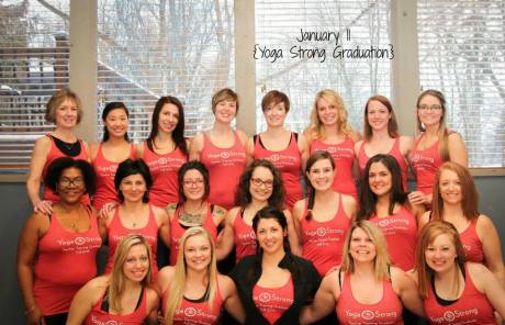 Graduates of the first Yoga Teacher Training at Yoga Strong in Canton, Ohio.